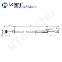 102669 X-KDM8/A-FL-5m/PVC szenzor mérőkábel aktív szenzorokhoz - 5 méter - 8pin egyenes csatlakozó - szabad szálak