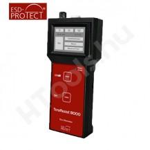 TeraResist 8000, ellenállás mérőműszer, Tera-Ohm mérőműszer, érintőkijelző, USB, szoftver, kalibráció