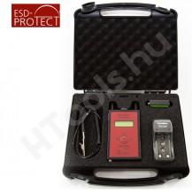 EFM 822 elektrosztatikus térerőmérő, mezőmérő, készlet, koffer