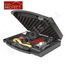 EFM 823 elektrosztatikus térerőmérő, walking teszt készlet, koffer, analóg ±1V kimenet, szoftver, kézi elektróda