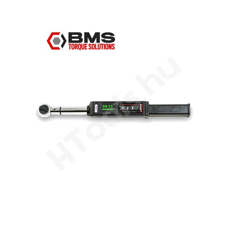 BMS TW050S digitális nyomatékkulcs, 5-50 Nm, USB adattovábbítás