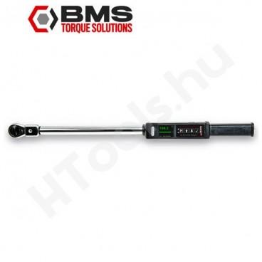 BMS TW200A digitális szög és nyomatékkulcs, 20-200 Nm, USB adattovábbítás