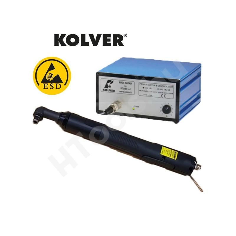 Kolver KBL40FR-ANG szénkefementes elektromos sarokcsavarozó, automata lekapcsolás, 0.9-4 Nm, 450-750 f/perc