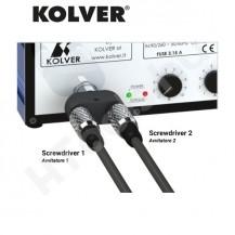 Kolver DOCK 02 dupla csavarozó kimenet EDU1BL tápegységhez és KBL csavarozókhoz