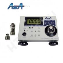 ASA DTM-15M digitális nyomatékmérő - 0.004-1.5 Nm, USB adatkimenet, ASJ-10K, ASJ-1.5 mérőfej, kétirányú, gyártói kalibráció