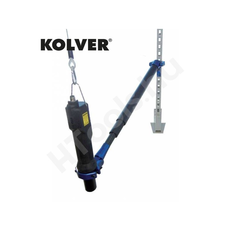 Teleszkópos szénszálas nyomatékkar, KOLVER CAR501, max 50 Nm, 490-950 mm munkaterület