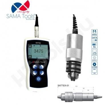 SATTEX-05 digitális  hordozható forgatónyomaték mérő, 5 Nm, adatkimenettel