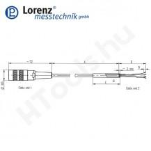 10266 X-KD6/A-FL-3m/PVC szenzor mérőkábel passzív szenzorokhoz - 3 méter - 6pin egyenes csatlakozó - szabad szálak