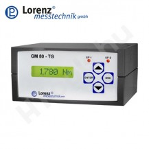 GM80-TG asztali mérőerősítő adatgyűjtővel, szoftverrel, PC csatlakozással