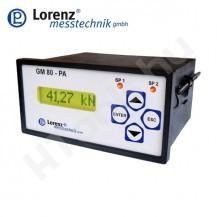GM80-PA beépíthető mérőerősítő adatgyűjtővel, szoftverrel, PC csatlakozással