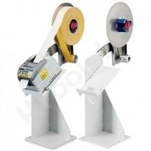 Automata ragasztószalag adagoló állvány, állítható lejtés, szalag felcsévélő, külső szalagtartóval