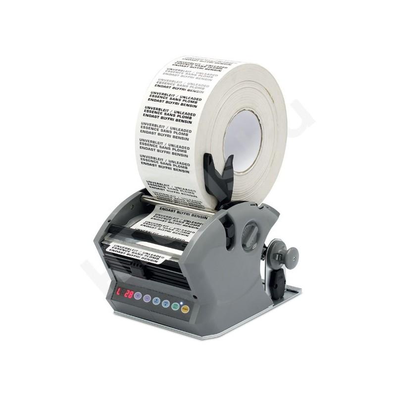 A524.120 ipari automata címkeadagoló, 15-120 mm címke szélesség , 10-999 mm hosszúság, max 200 mm címke tekercs átmérő