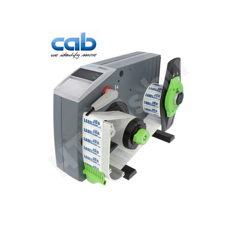 CAB VS60 ipari automata címkeadagoló, 8-65 mm címke szélesség, max 200 mm tekercs átmérő, 5-300 mm címke magasság