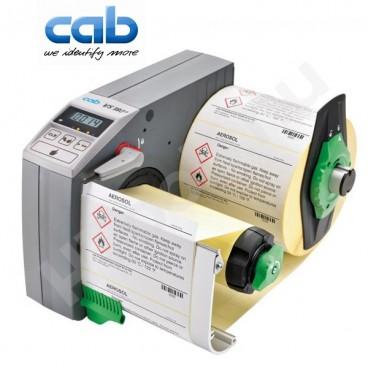 CAB VS180+ ipari automata címkeadagoló, 80-180 mm címke szélesség, max 200 mm címke tekercs átmérő, 20-600 mm címke magasság
