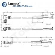 Lorenz Messtechnik nyomatékmérő szenzor mérőkábel